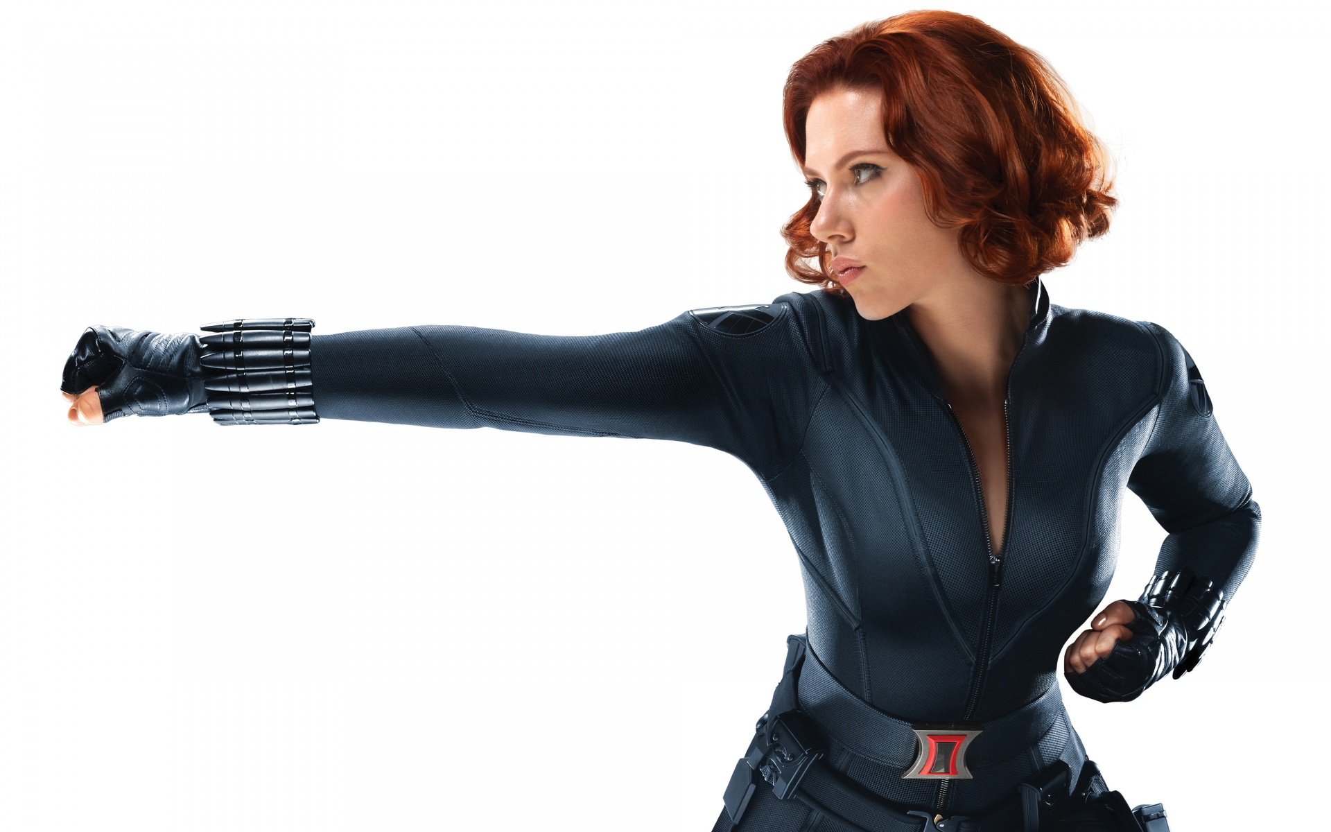 avengers as Scarlett widow in johansson black