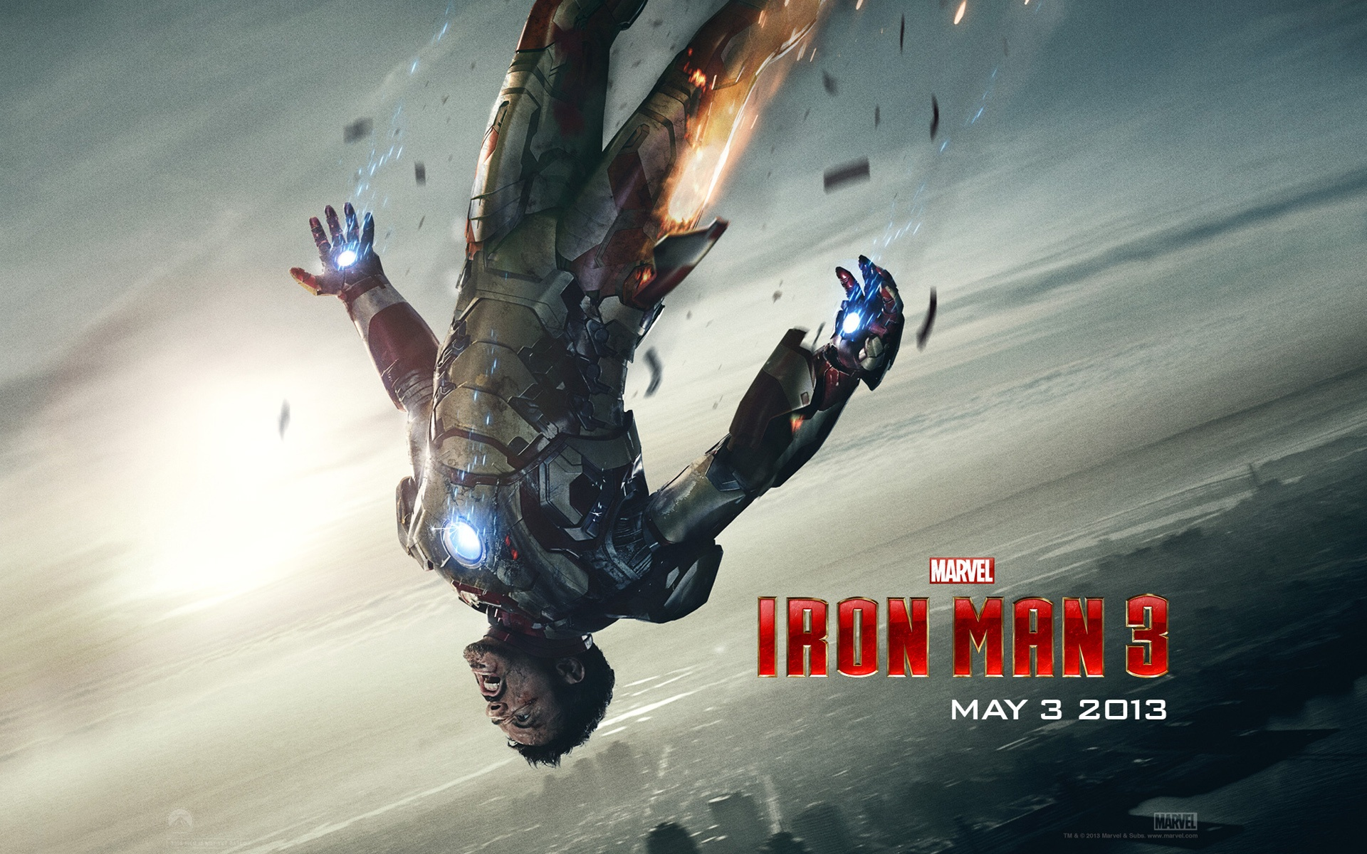 tony stark in iron man 3 wallpapers in jpg format for free download