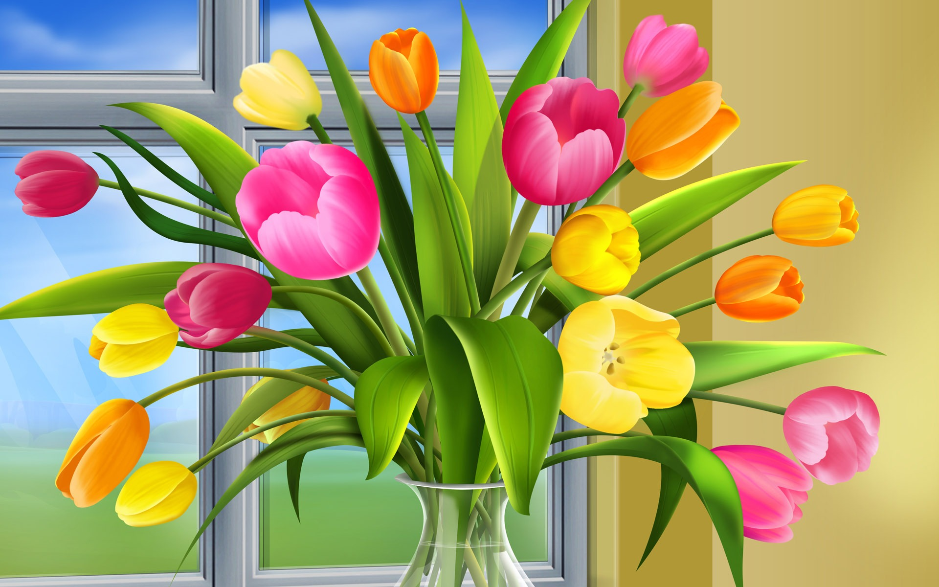 Tulips vector wallpaper vector 3d wallpapers in jpg format for free tulips vector wallpaper vector 3d wallpapers thecheapjerseys