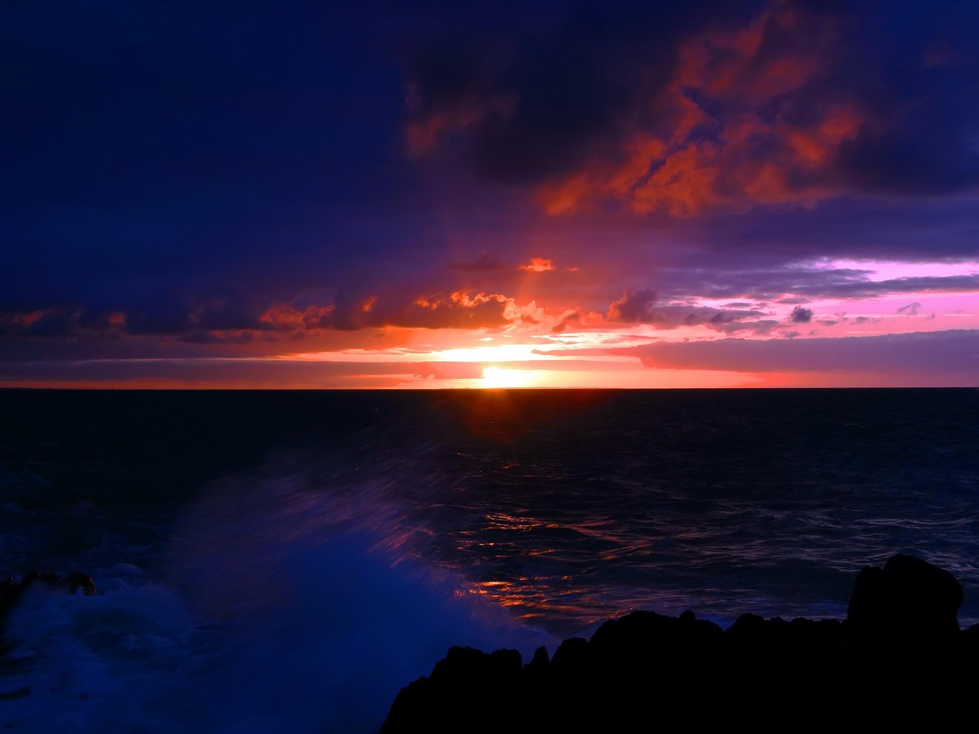 Dark Sea Sunset Wallpaper Landscape Nature Wallpapers