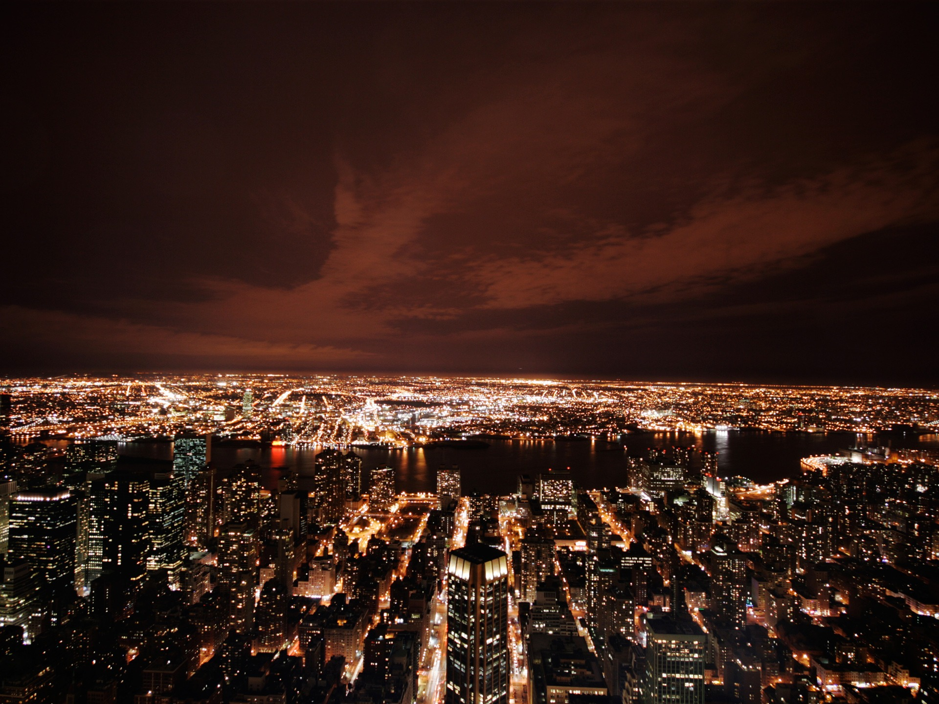 New York At Night Wallpaper United States World Wallpapers In Jpg Format For Free Download