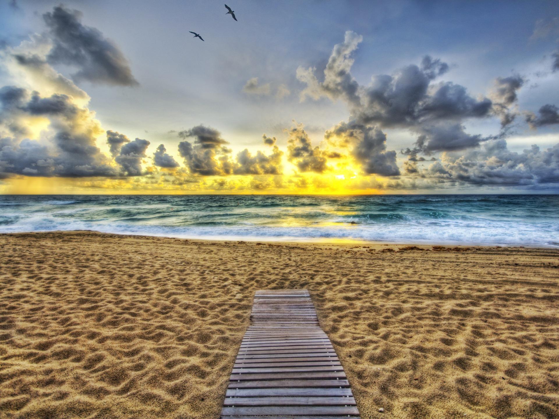 Ocean Sunset Wallpaper Beaches Nature Wallpapers In Jpg Format For