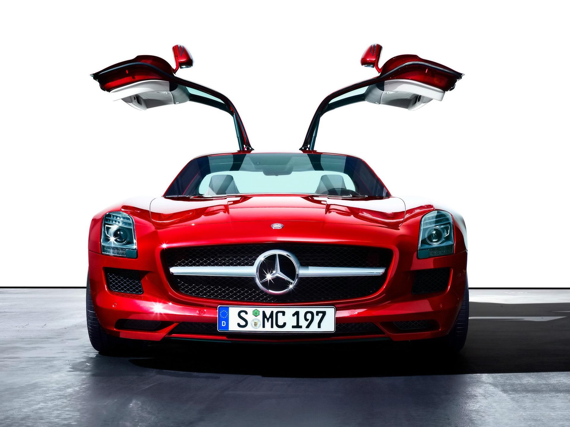 Red Mercedes SLS AMG Wallpaper Cars