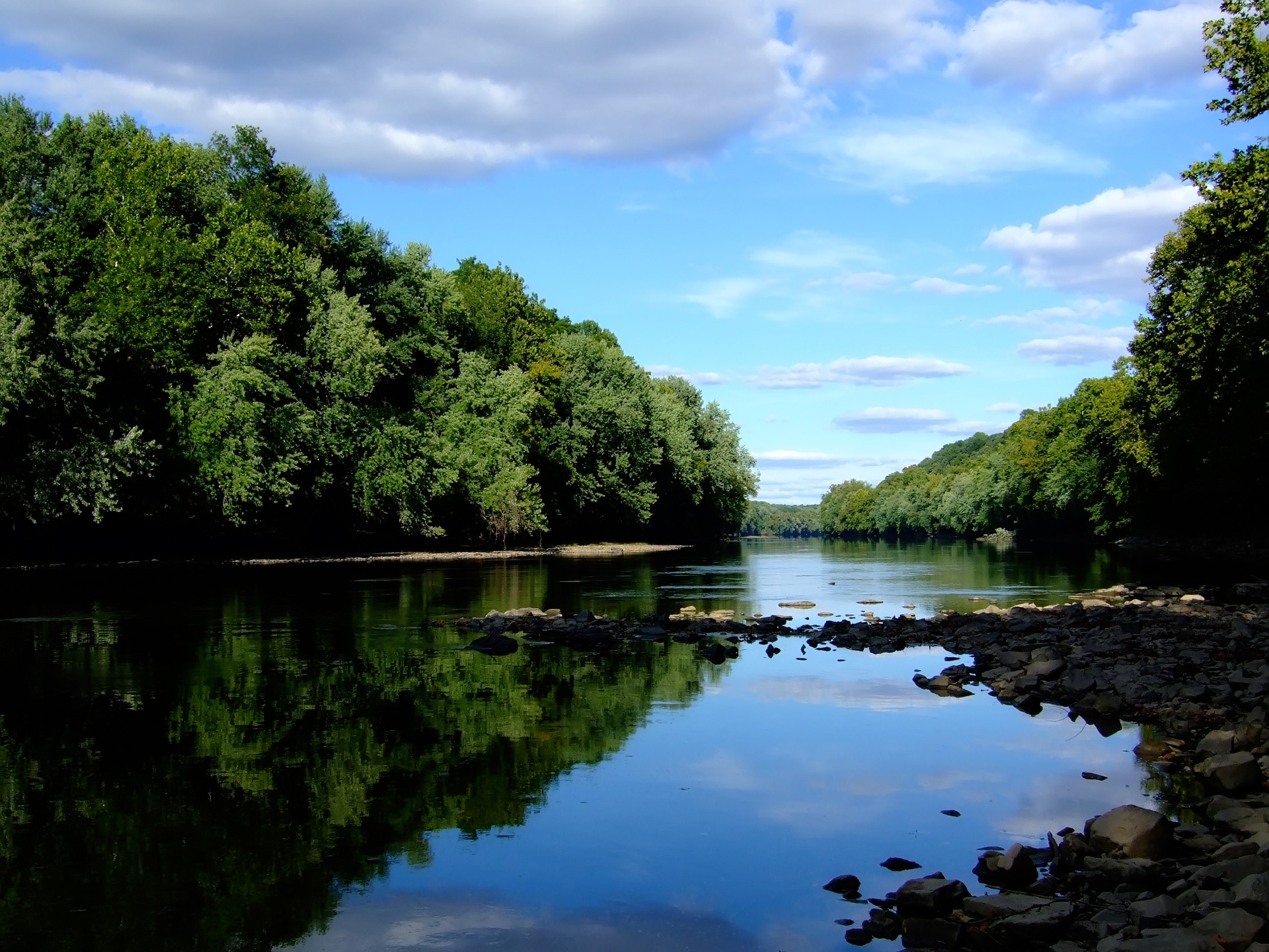 Rivers Nature Forest River Blue Island Wild Green Summer