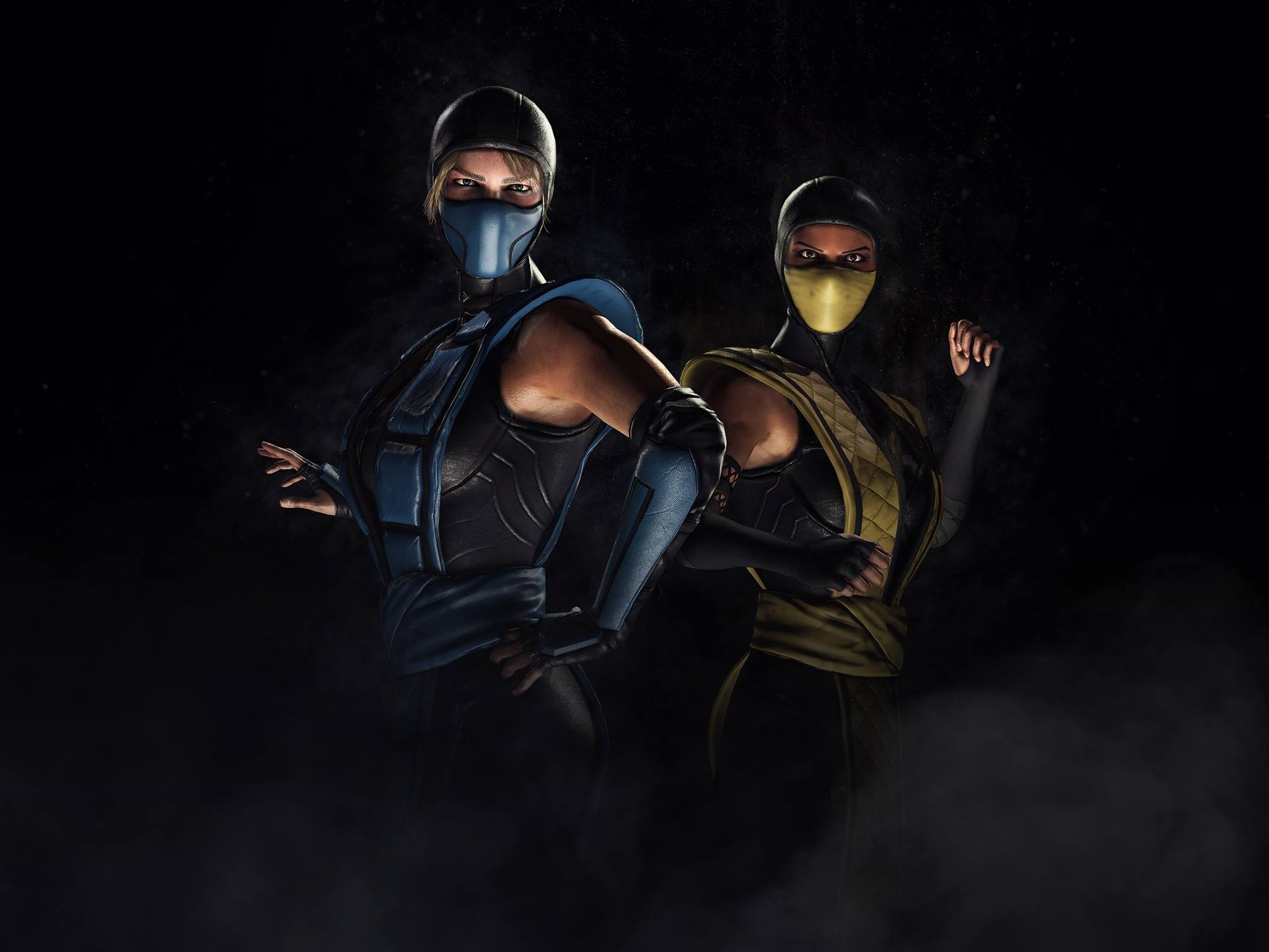Mortal Kombat Xl Sub Zero Scorpion Kosplay Wallpapers In Jpg