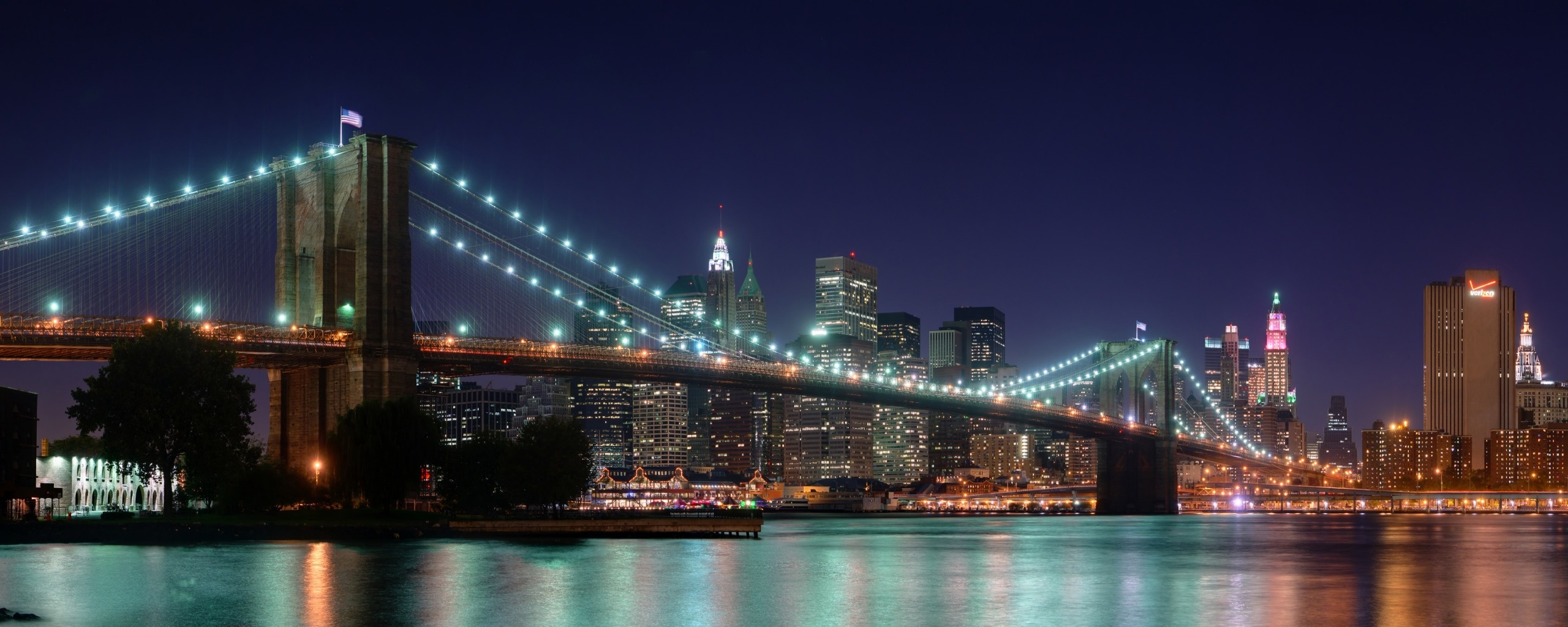 Popular Wallpaper Night Dual Monitor - brooklyn_bridge_panorama_dual_monitor_7699  Best Photo Reference.jpg