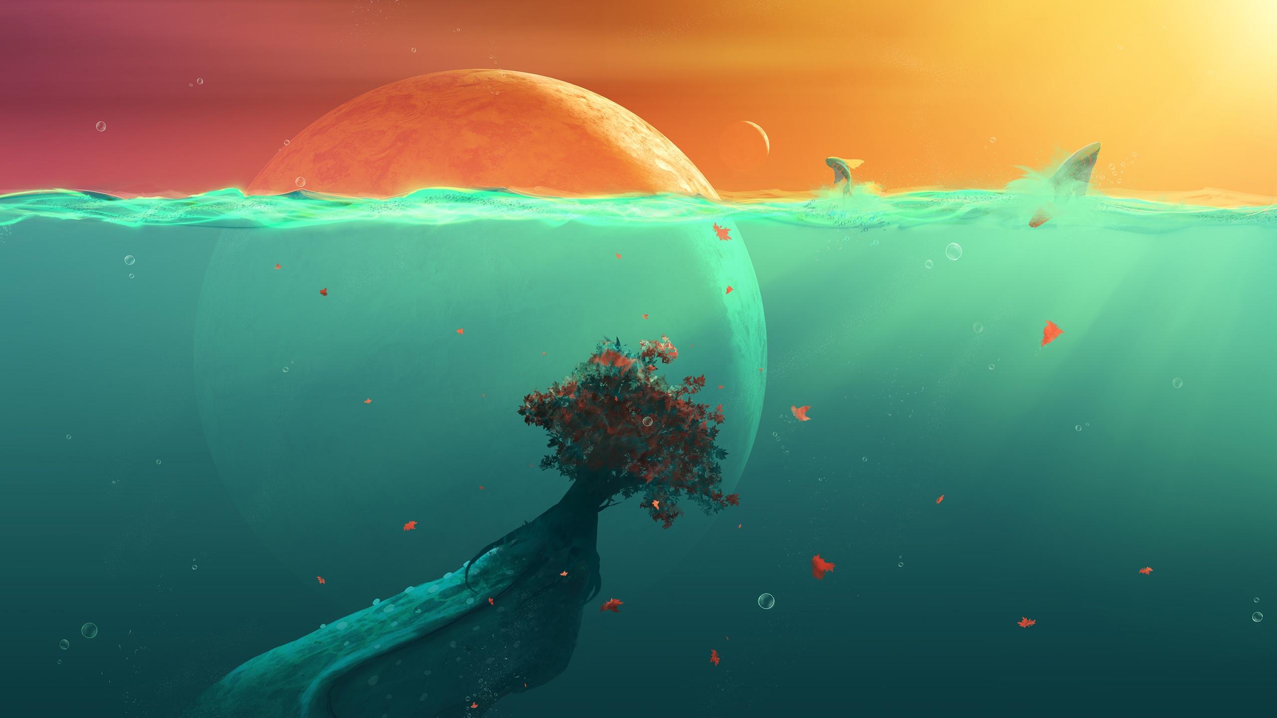 Deep Ocean Planet Fish Wallpapers