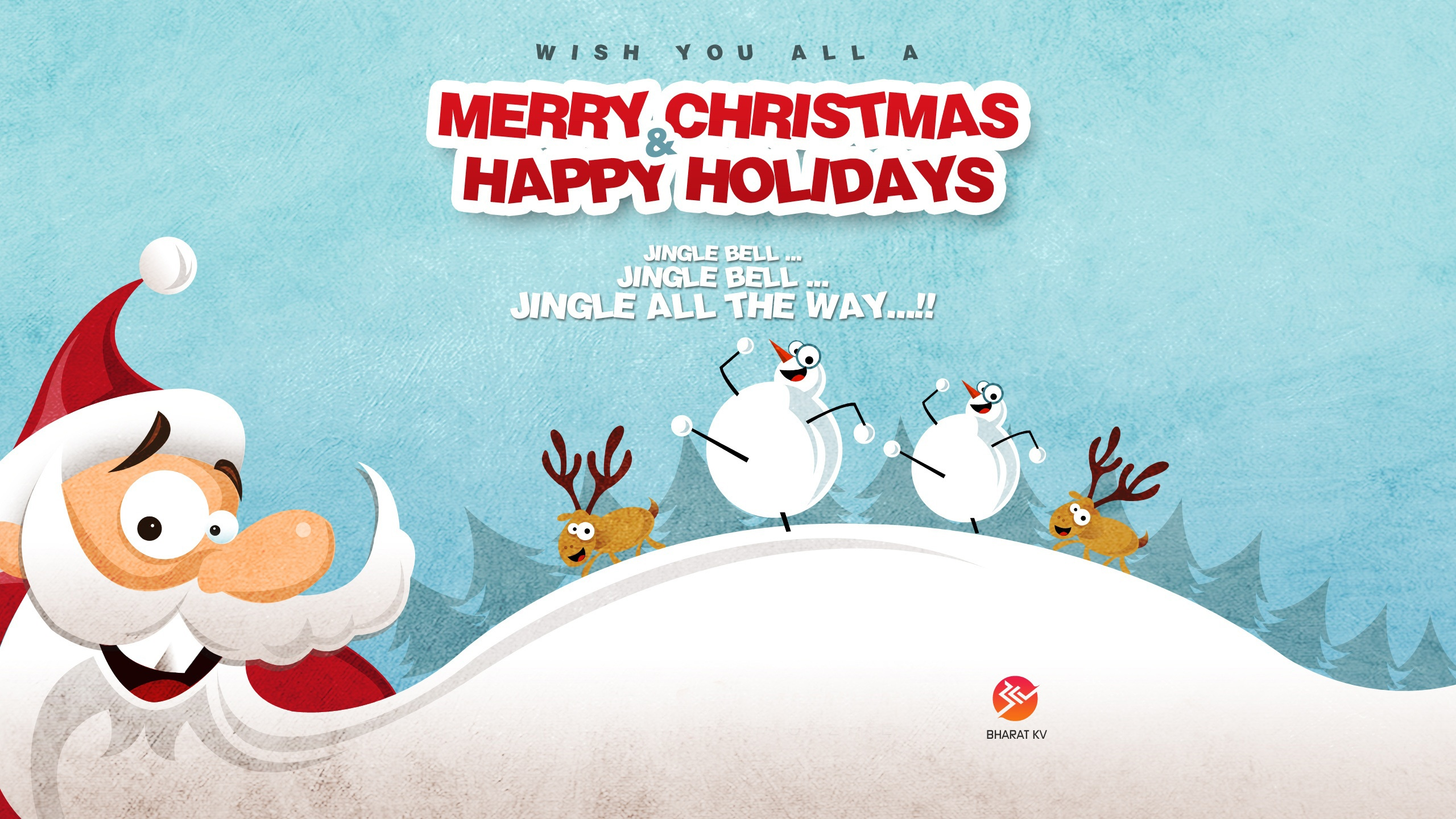 merry christmas happy holidays wallpapers