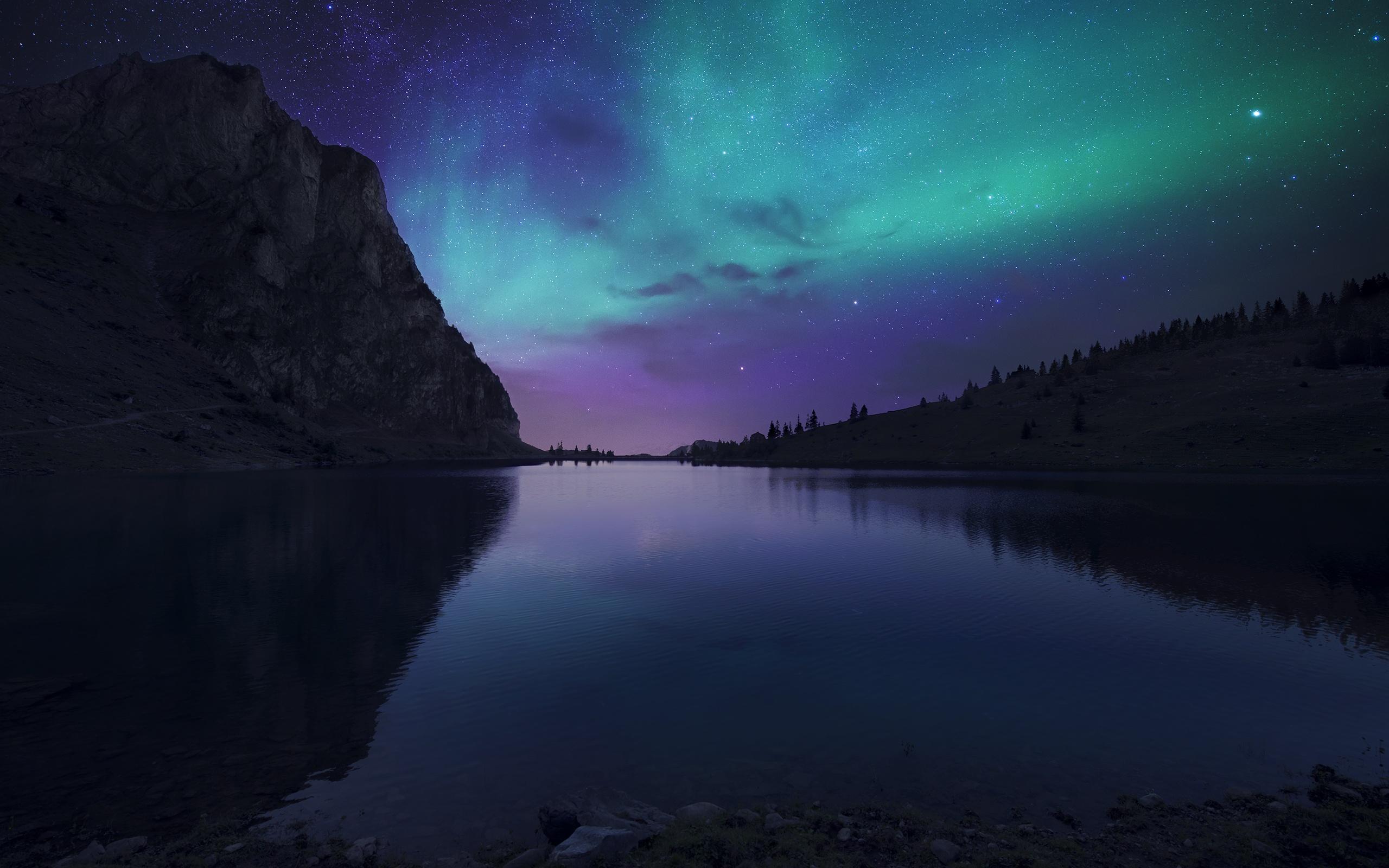 Download wallpaper x northern lights aurora borealis uk