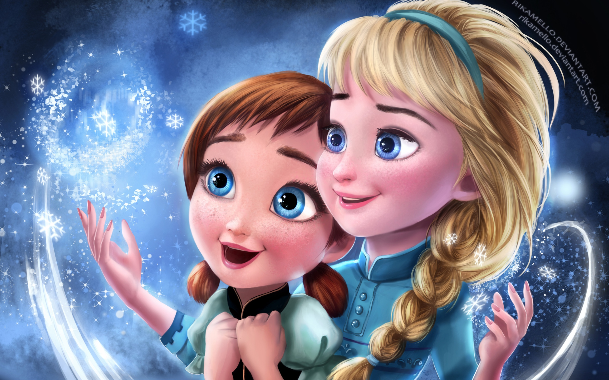 Frozen Elsa Anna Sisters Wallpapers in jpg format for free ...