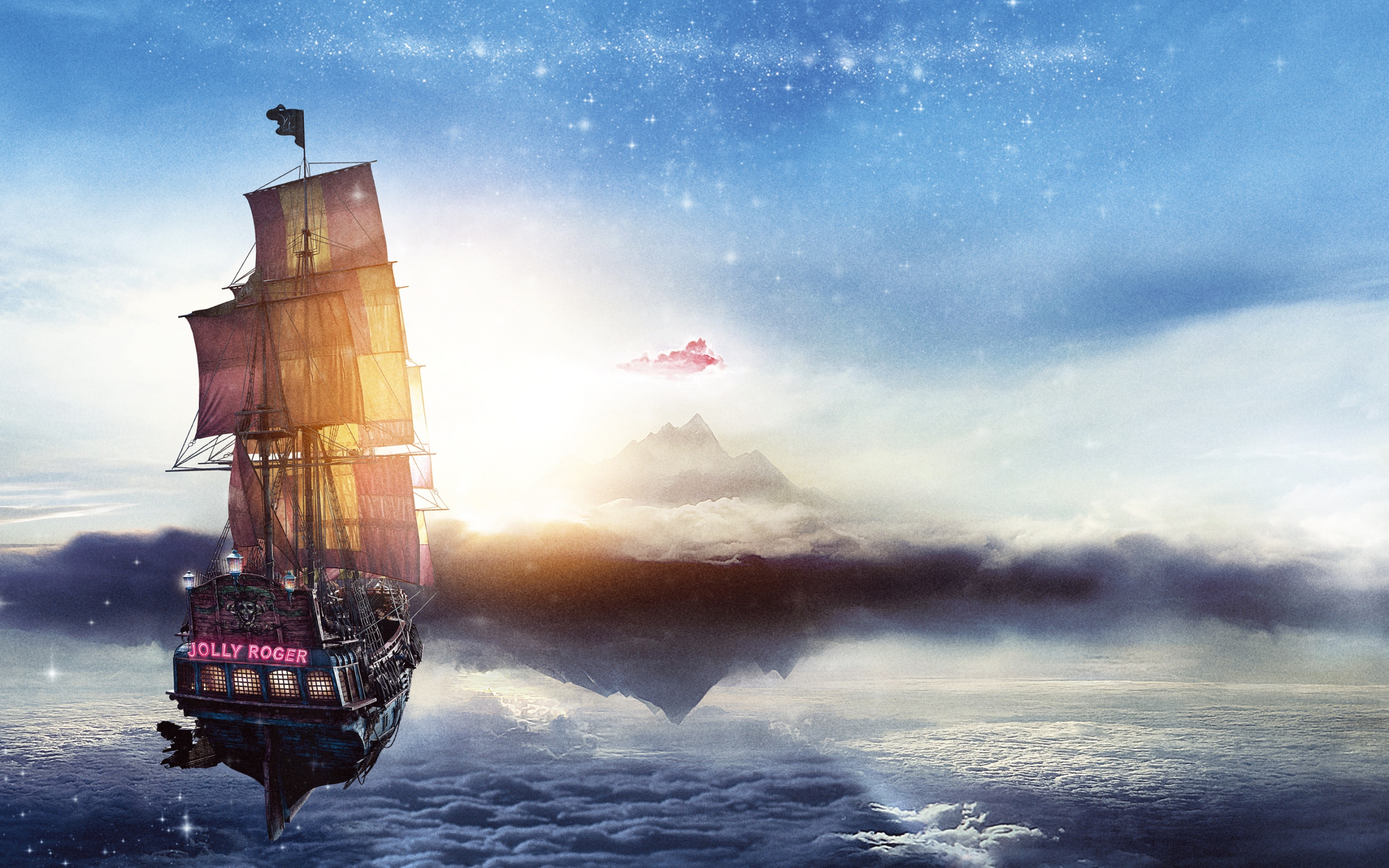 Jolly Roger Pan Pirate Ship Wallpapers