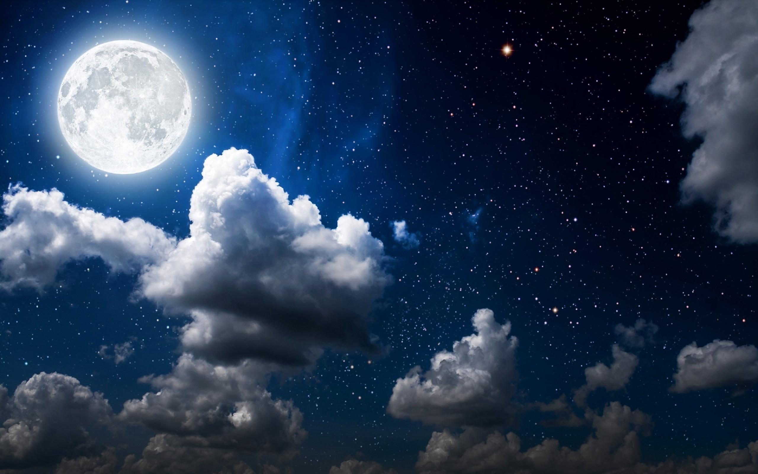 Moon Clouds Dark Sky Wallpapers In Jpg Format For Free Download