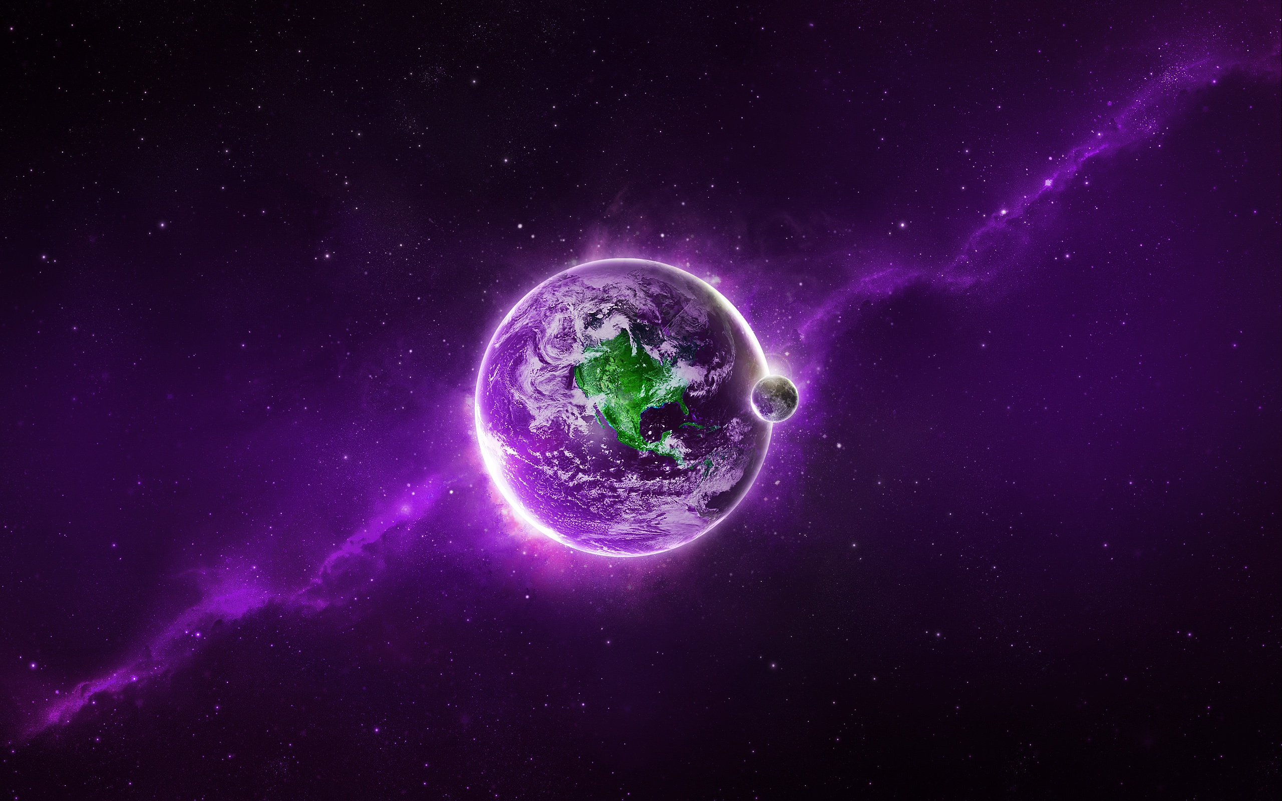 Purple Earth Wallpapers In Jpg Format For Free Download