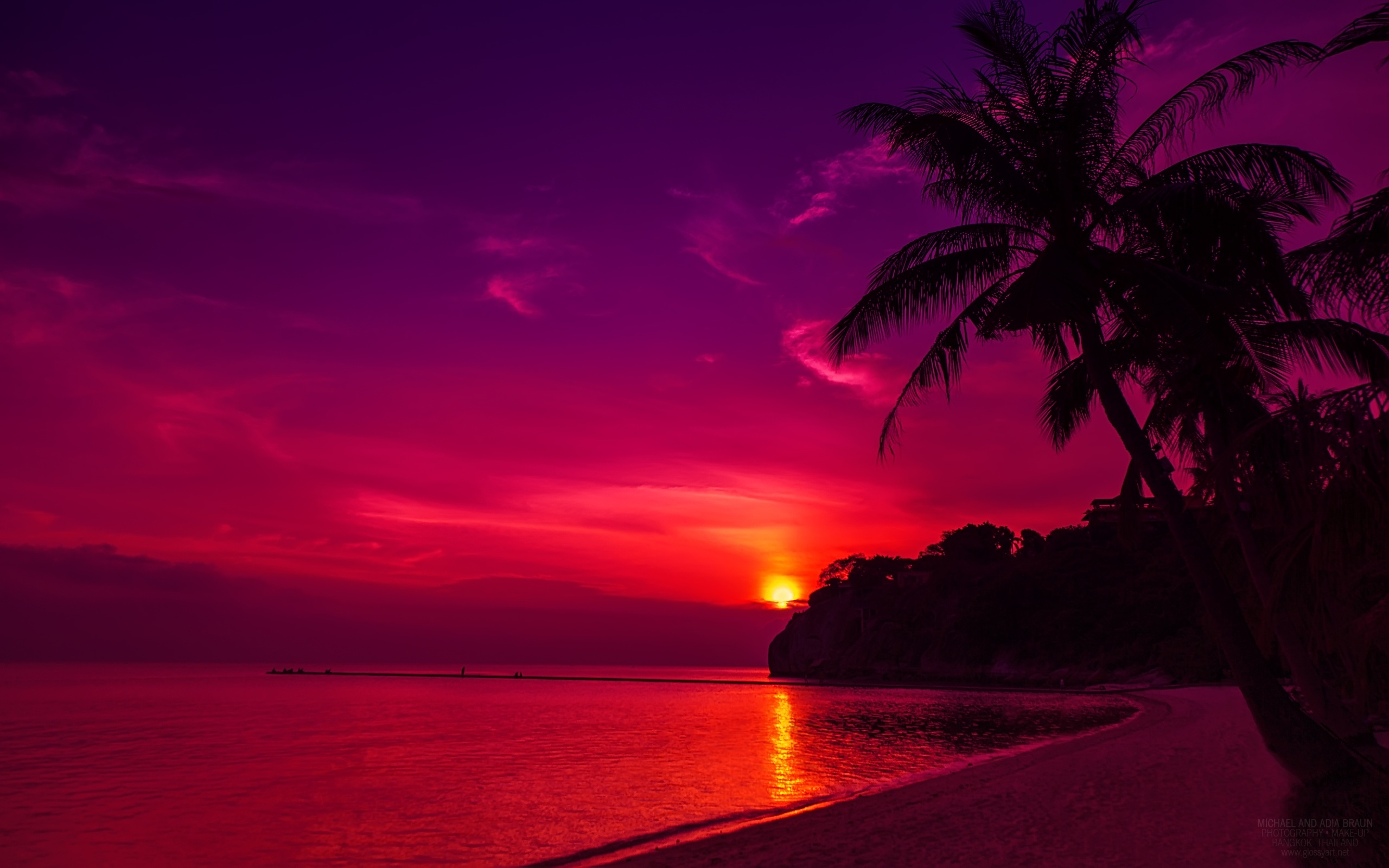 Twilight Island Beach Sunset Wallpapers In Jpg Format For Free