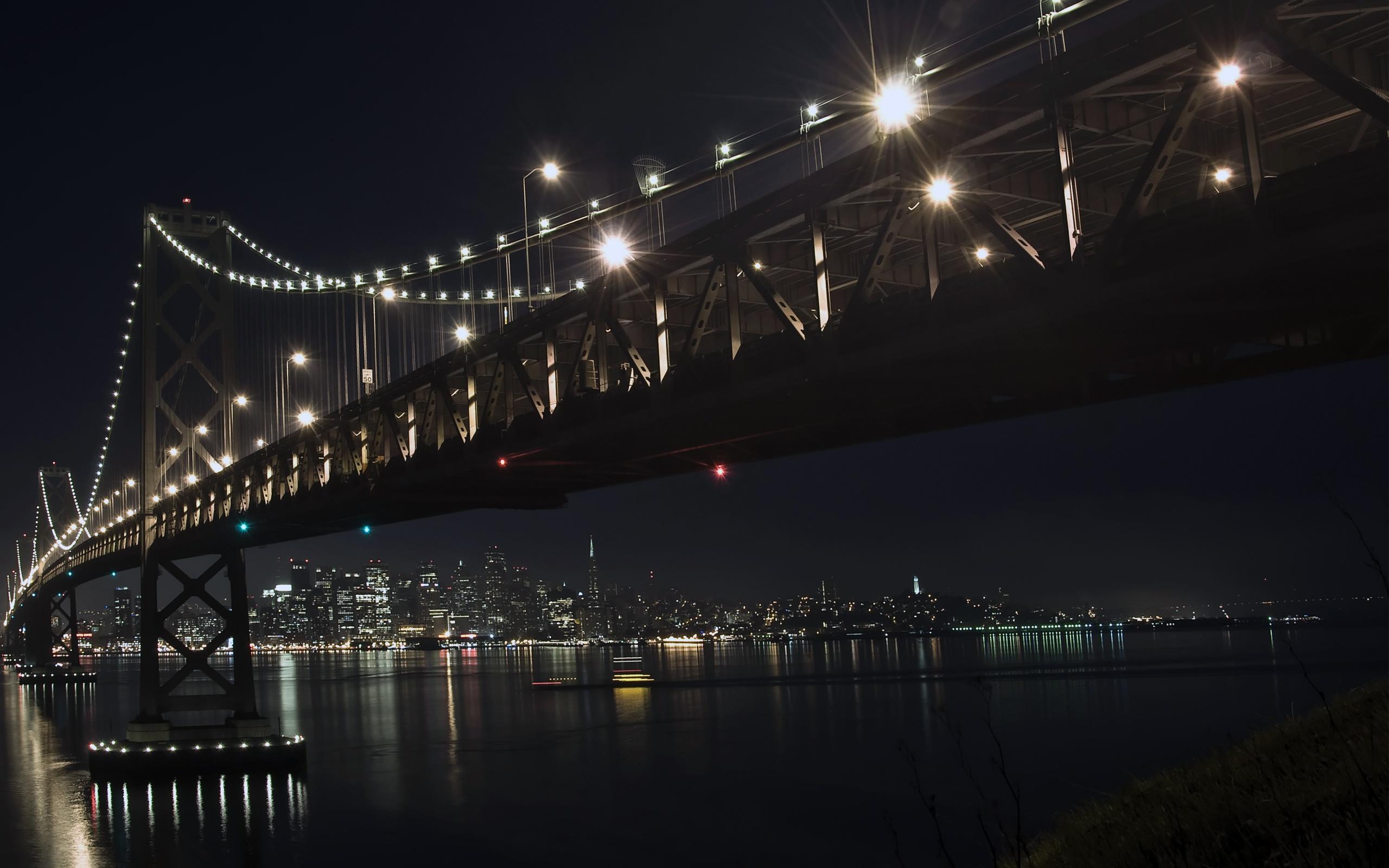 Wallpaper download night - The Bay Bridge By Night