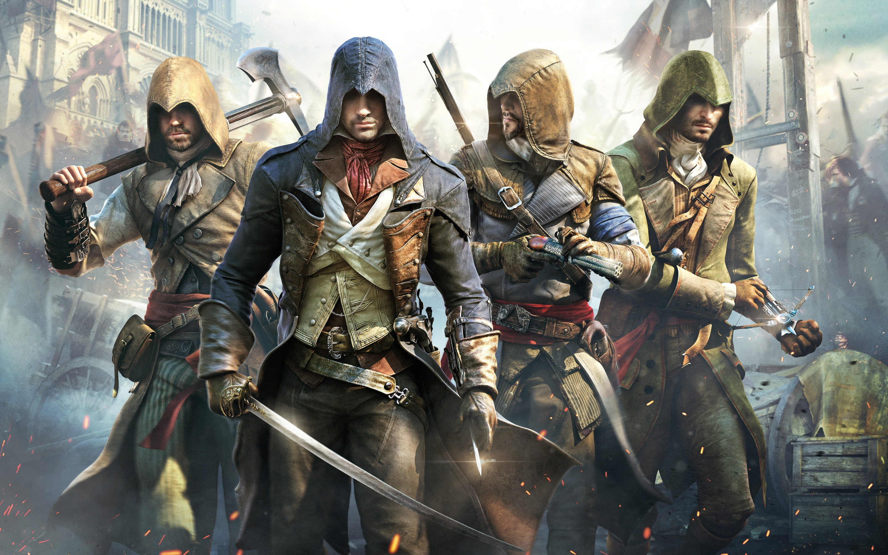 Assassin S Creed Unity Poster Wallpapers In Jpg Format For Free