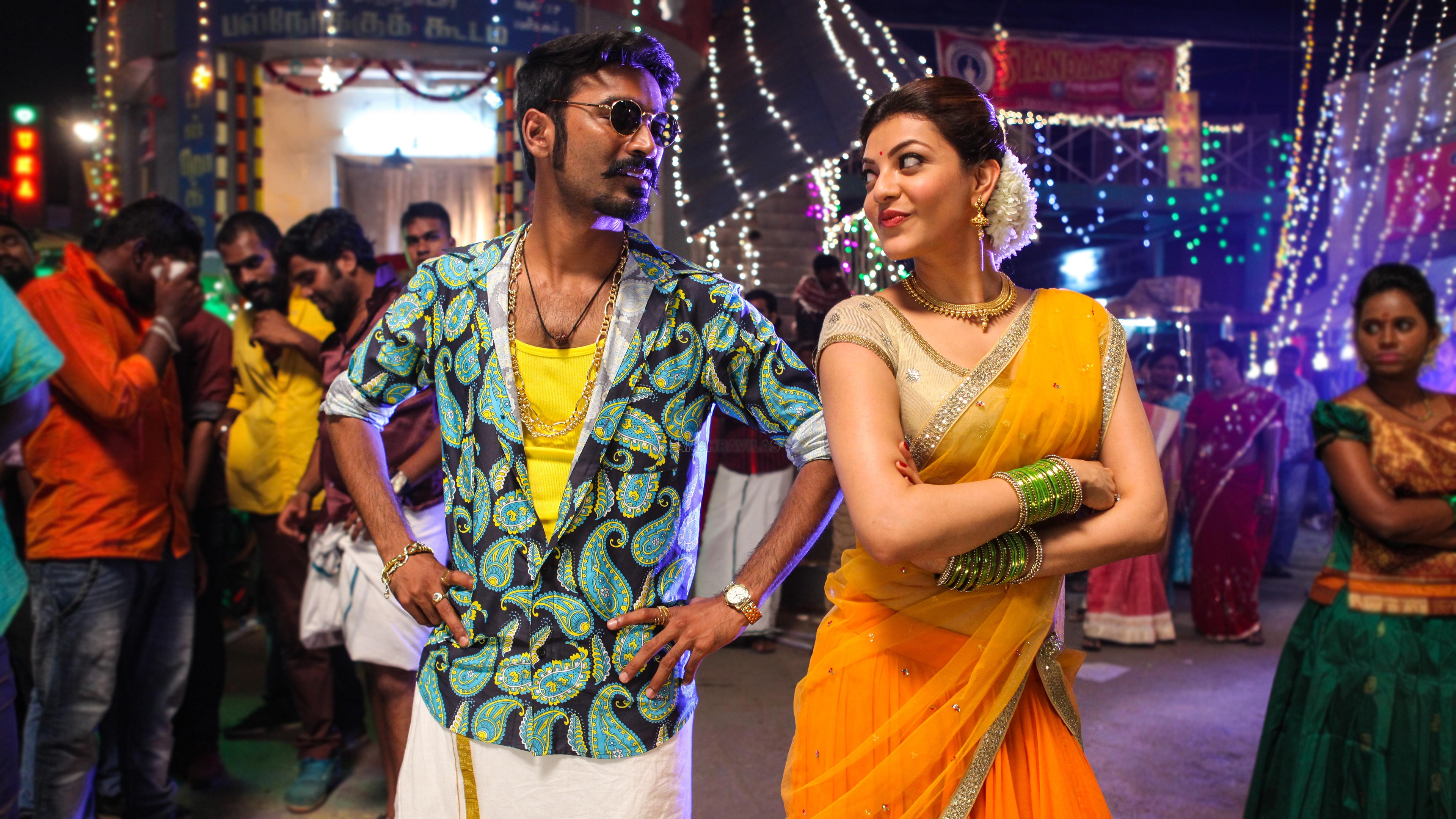 dhanush kajal maari tamil movie wallpapers in jpg format for free