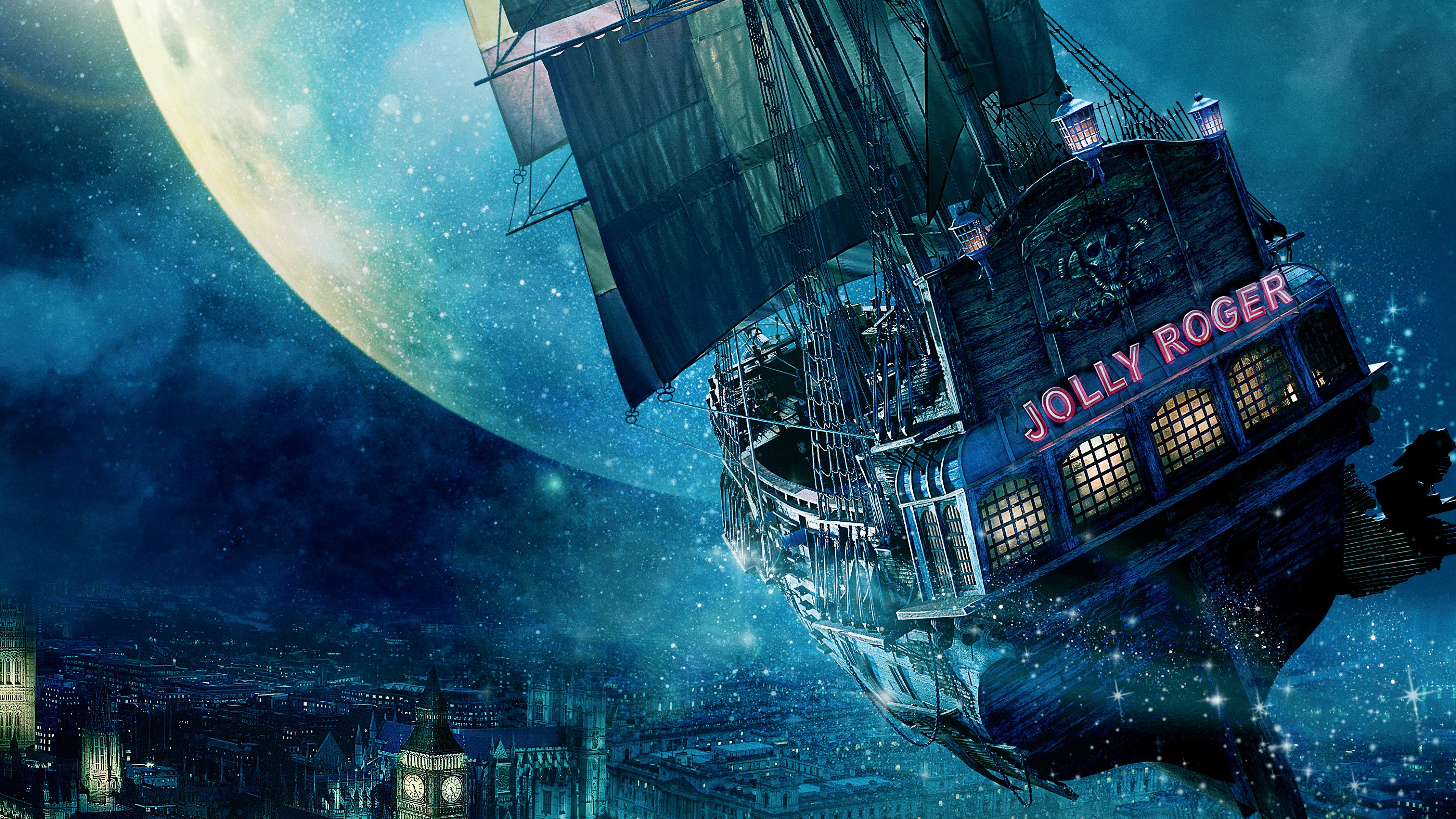 Jolly Roger Ship Peter Pan Wallpapers in jpg format for free