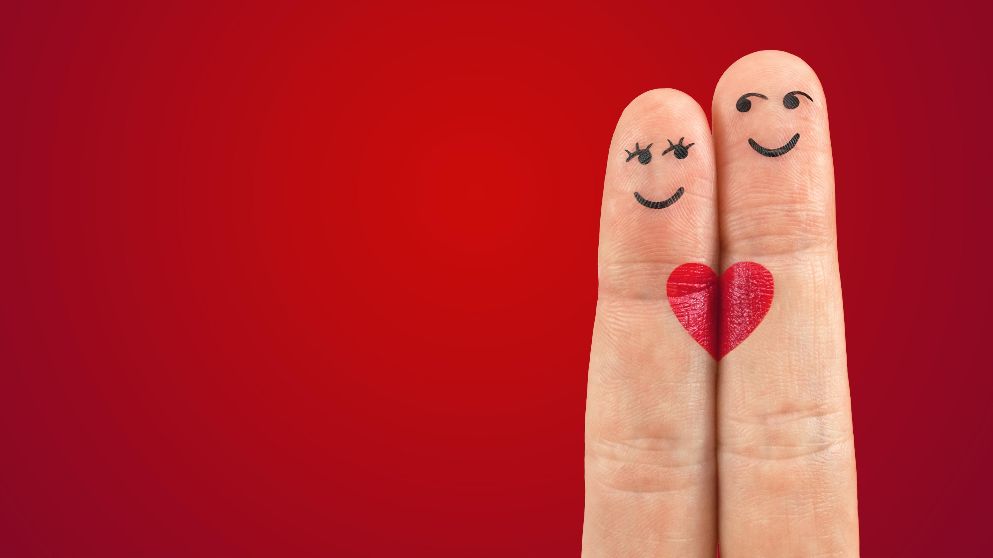 Love Pair Heart Fingers Wallpapers