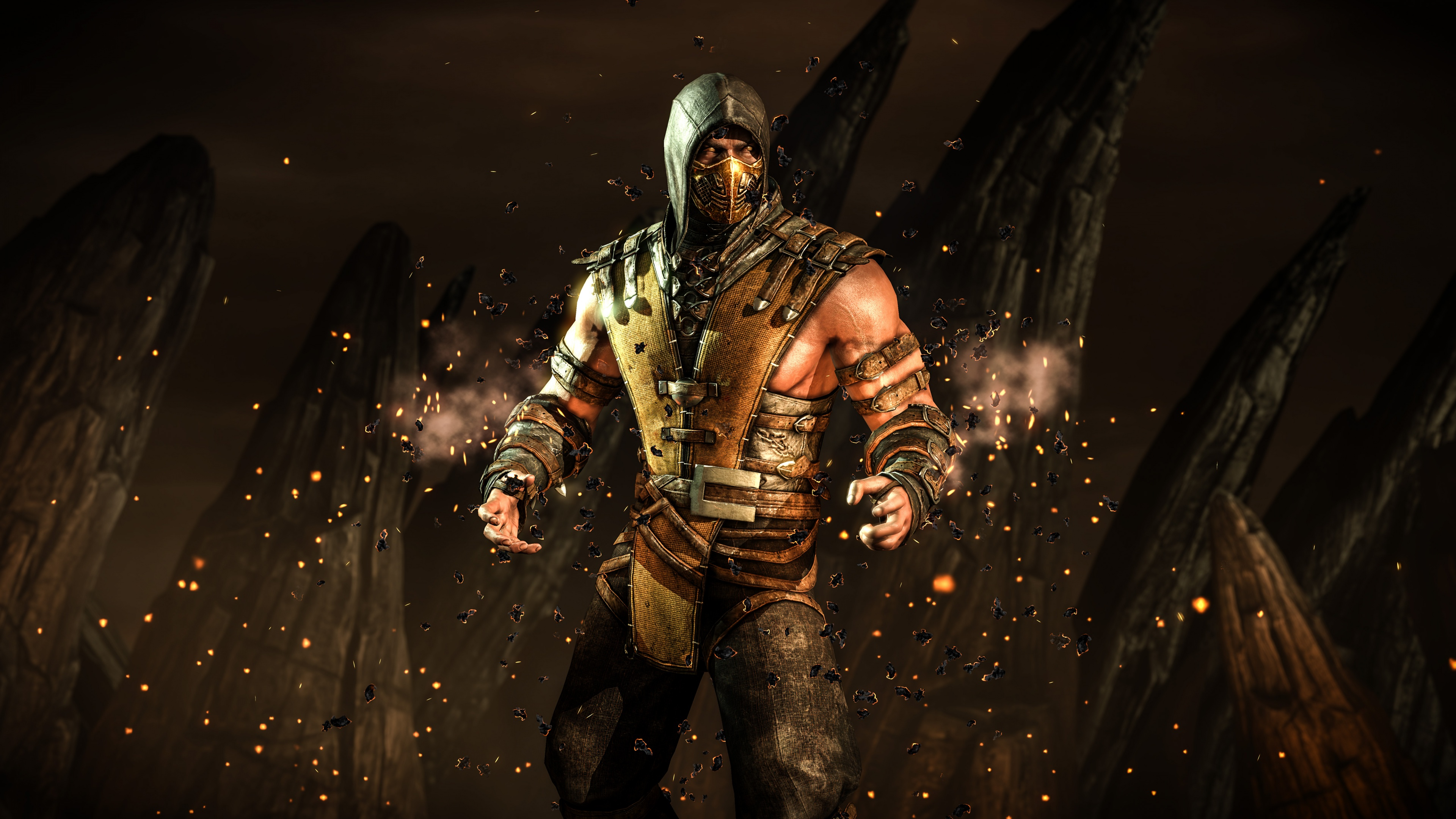 mortal kombat x scorpion hellfire wallpapers in jpg format for free
