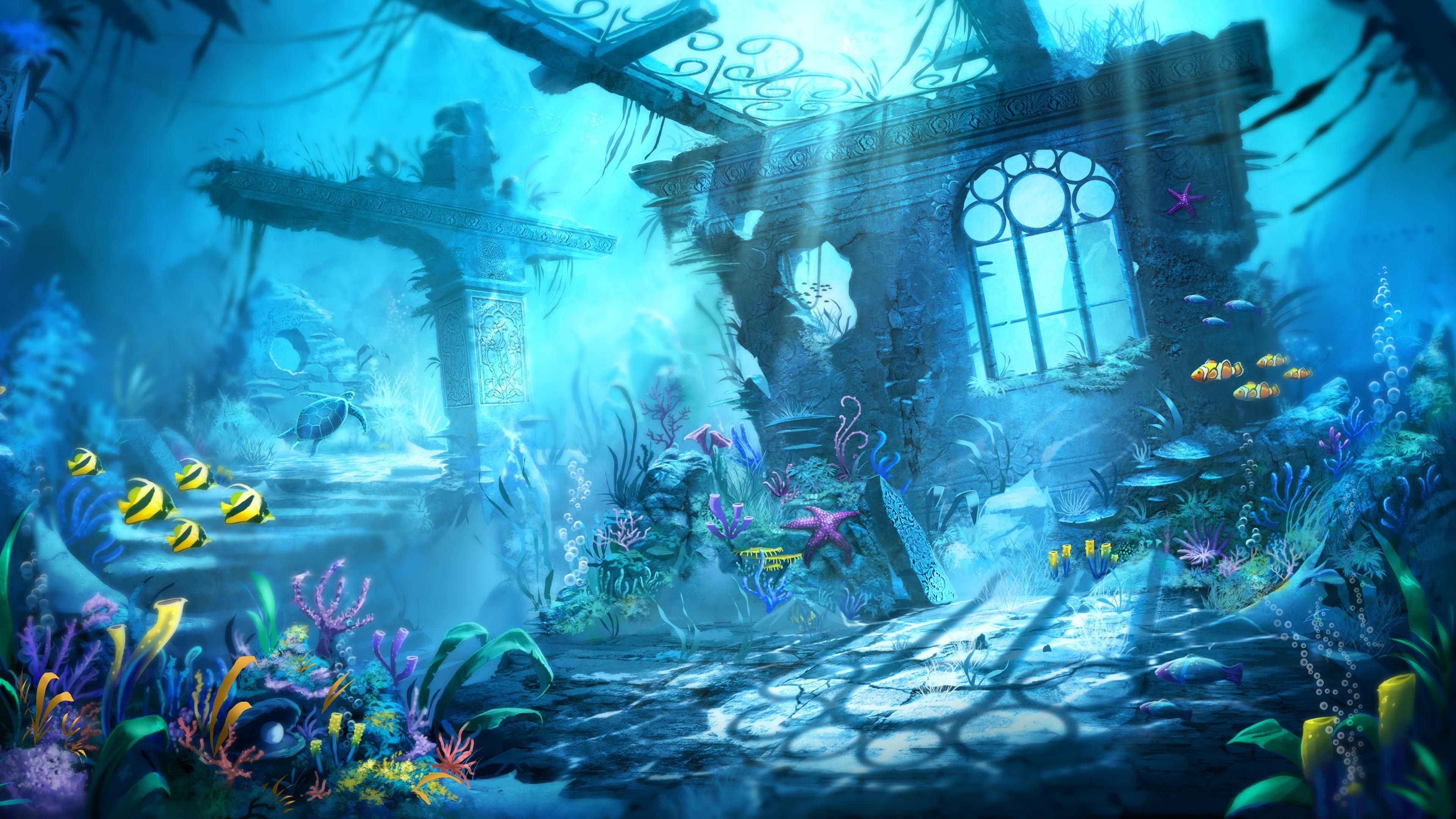 trine underwater scene wallpapers in jpg format for free download
