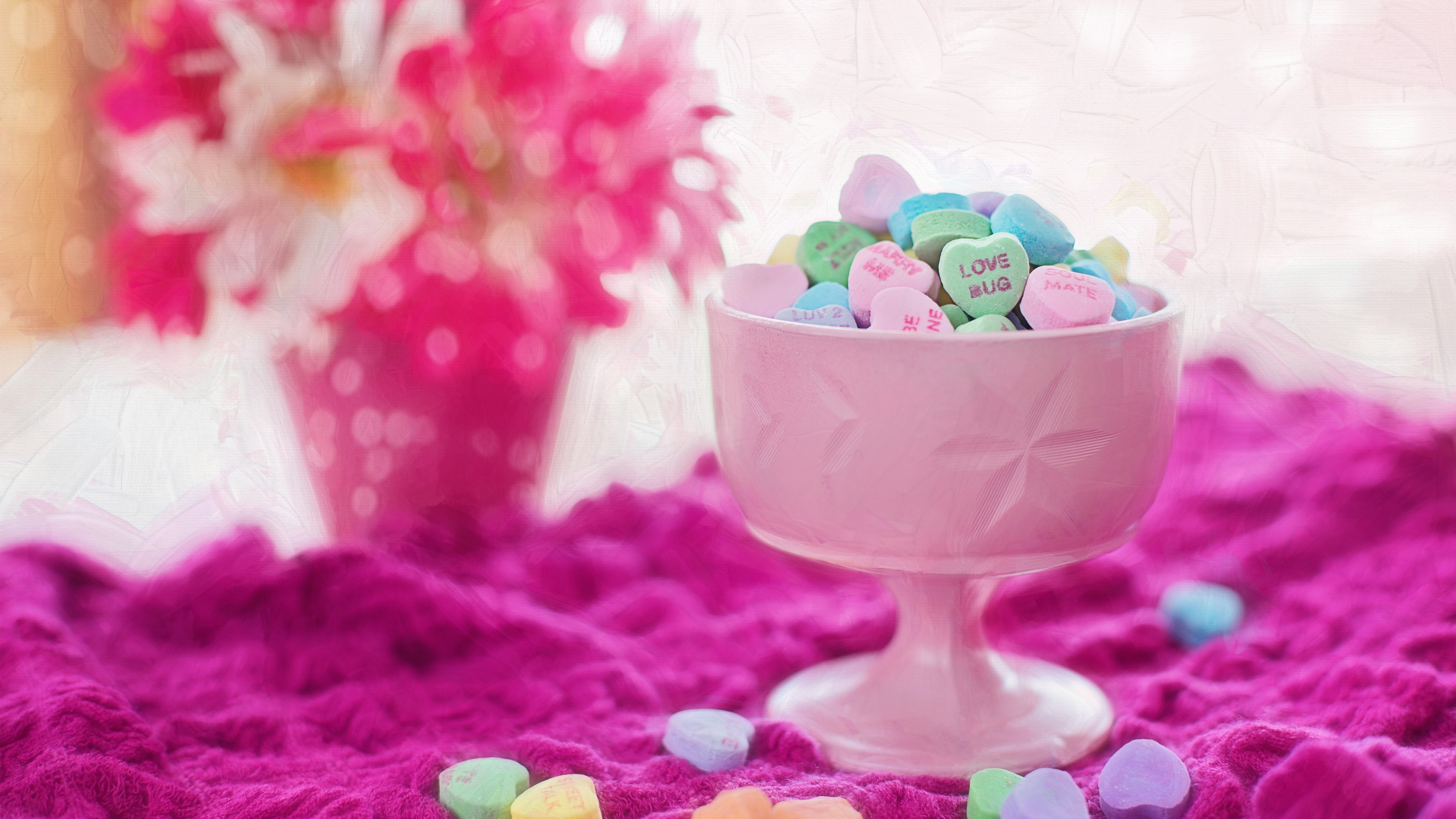 Valentine Love Hearts Candies Wallpapers In Jpg Format For Free Download