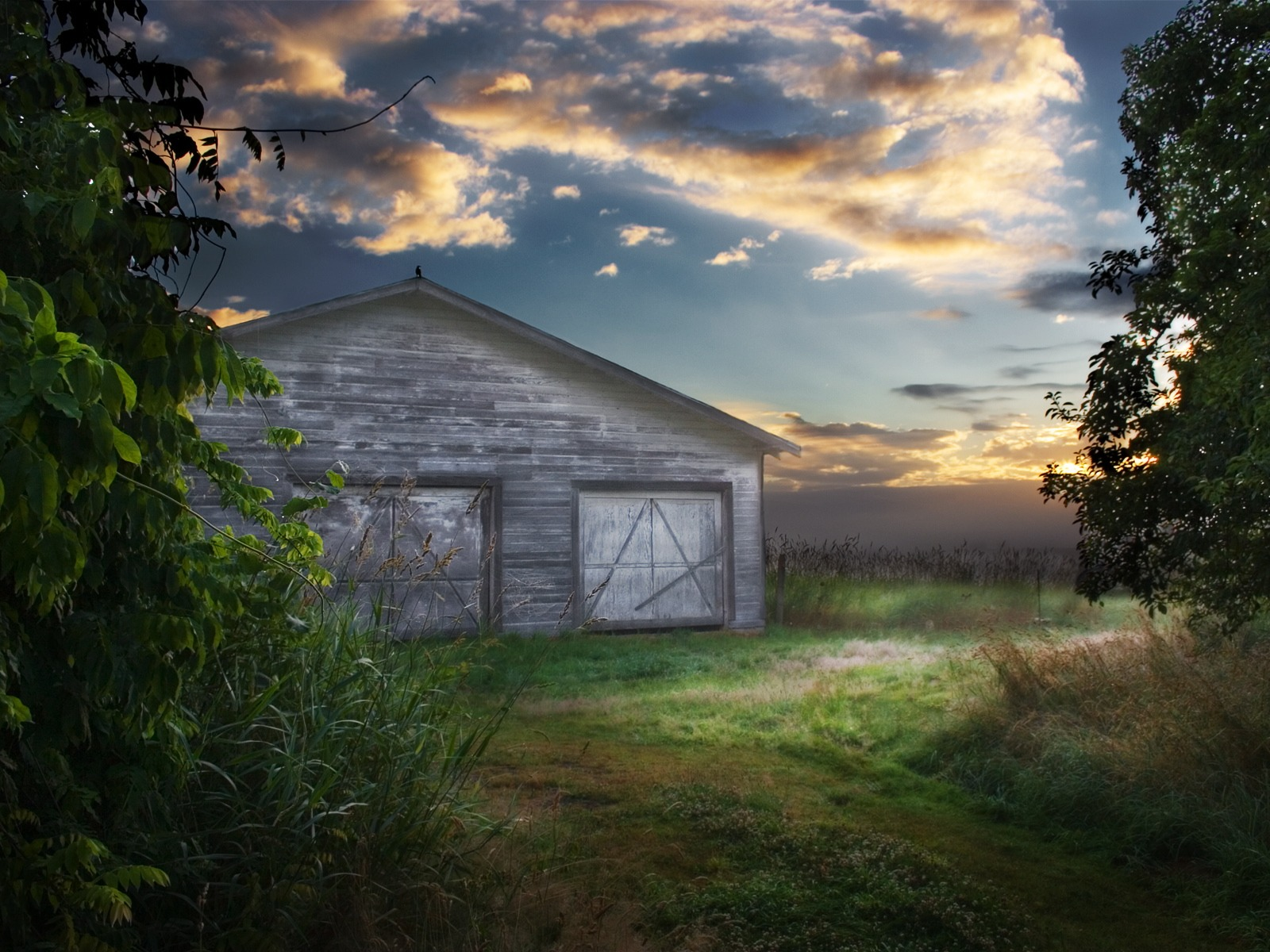 Abandoned Barn Wallpaper Landscape Nature Wallpapers In