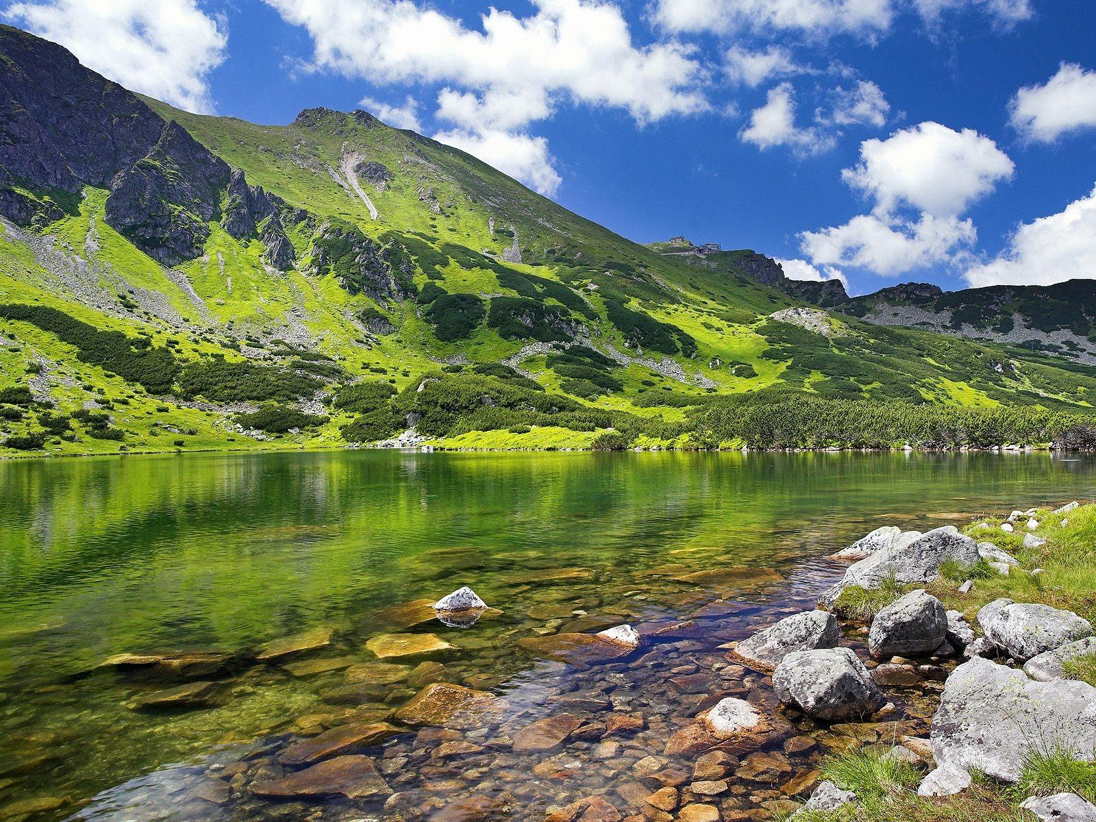 Alpine Lake Wallpaper Landscape Nature Wallpapers In Jpg