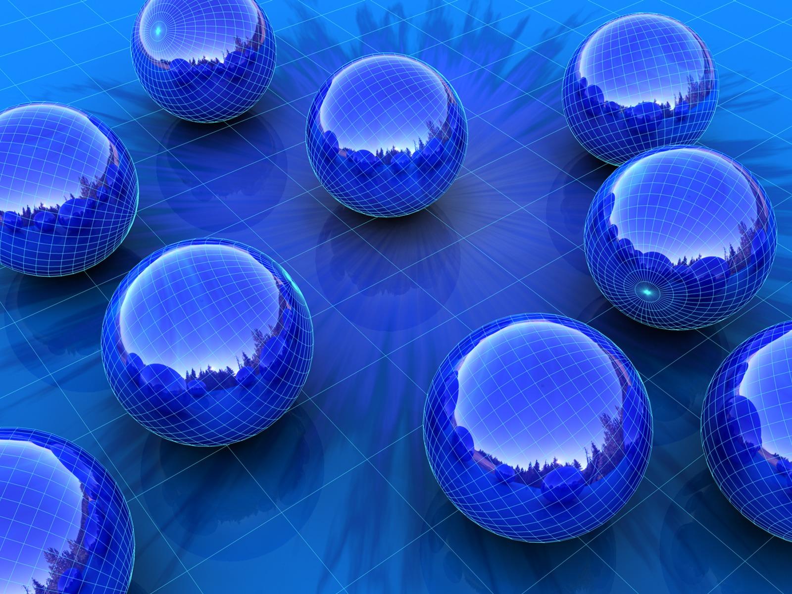 Blue Spheres Wallpaper 3D Models 3D Wallpapers In Jpg