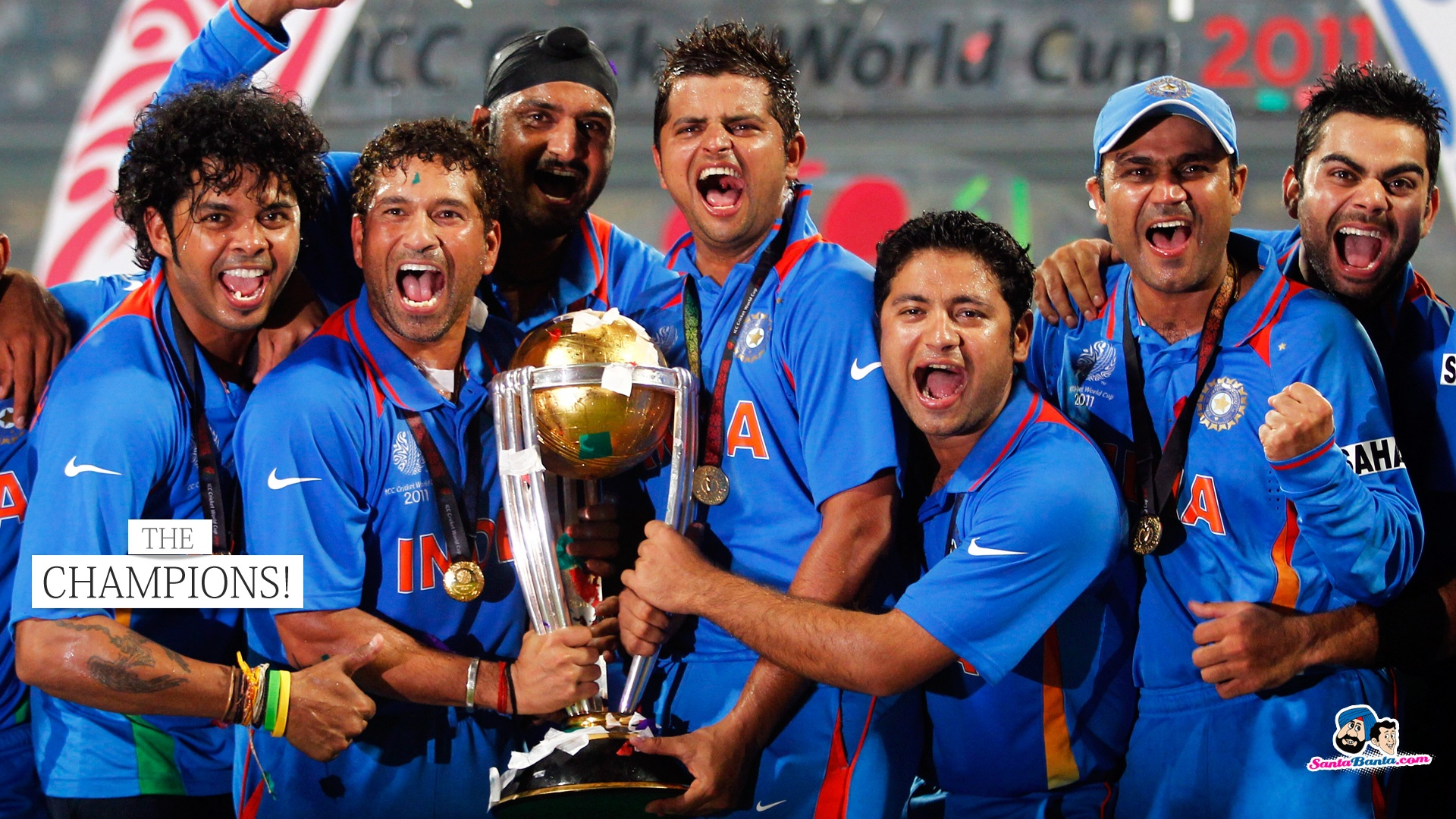 Team India 2011 World Cup Wallpapers in jpg format for ...