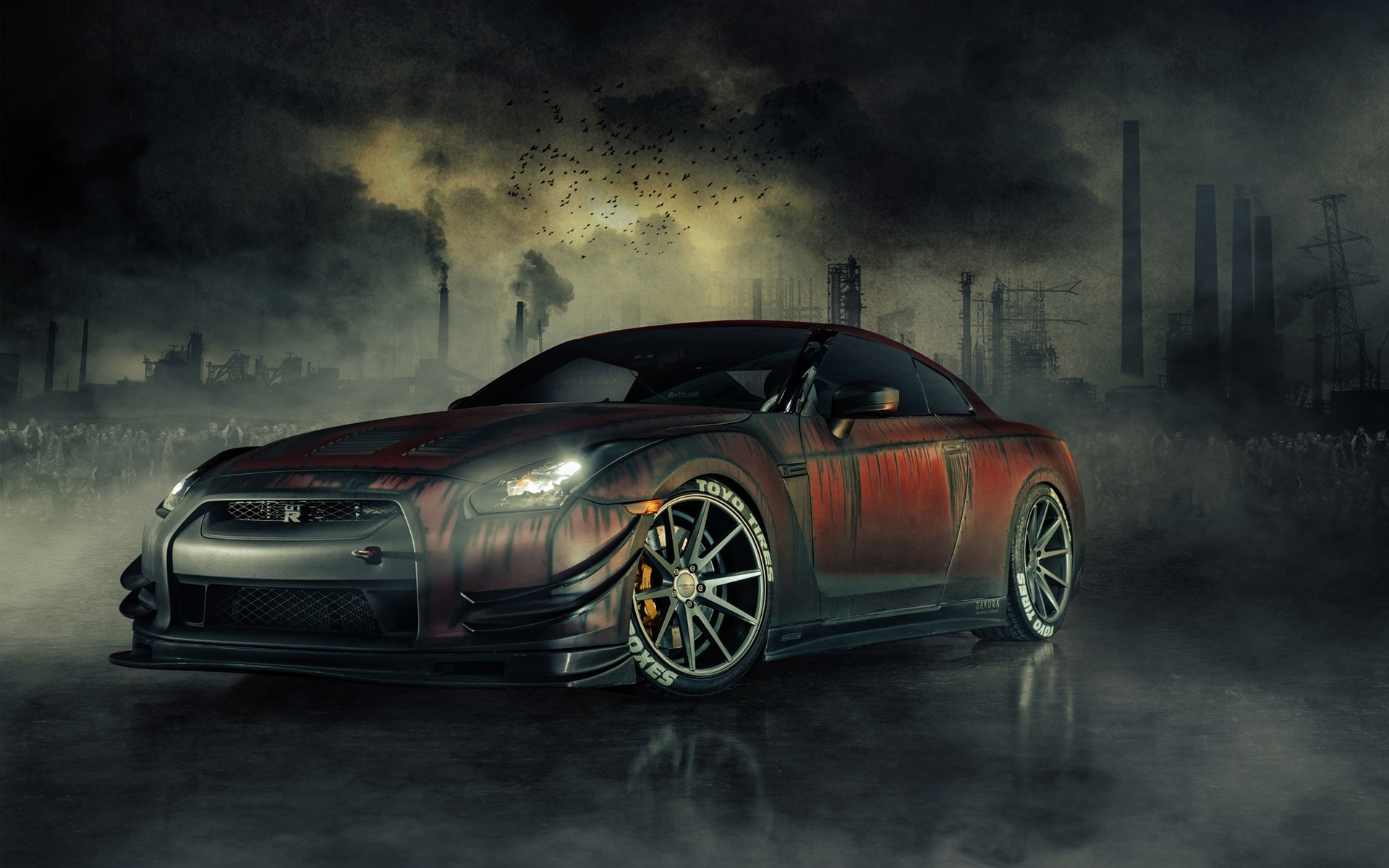 Nissan Gtr R35 Zombie Killer Wallpapers In Jpg Format For