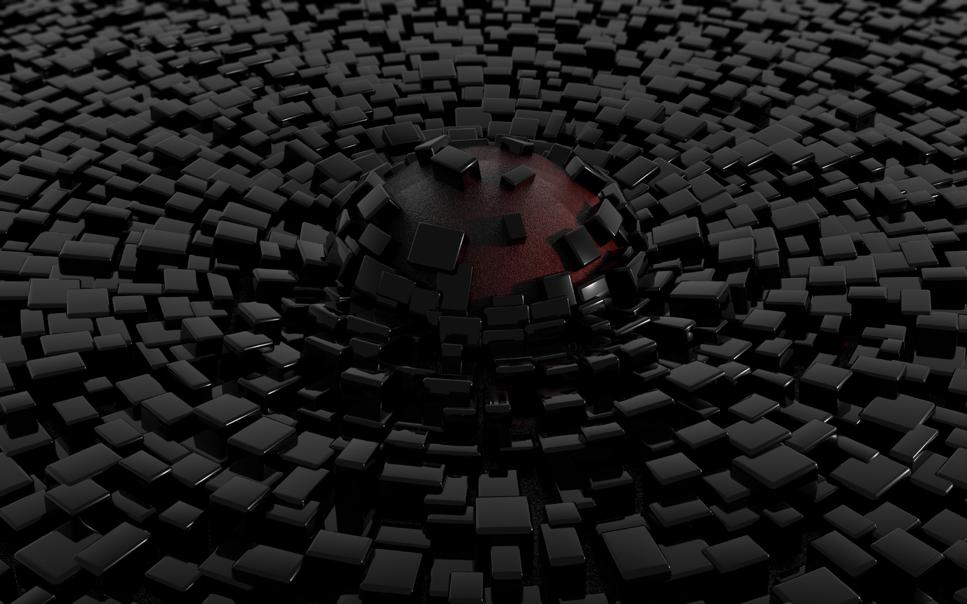 3d Black Abstract Wallpaper Free Wallpaper