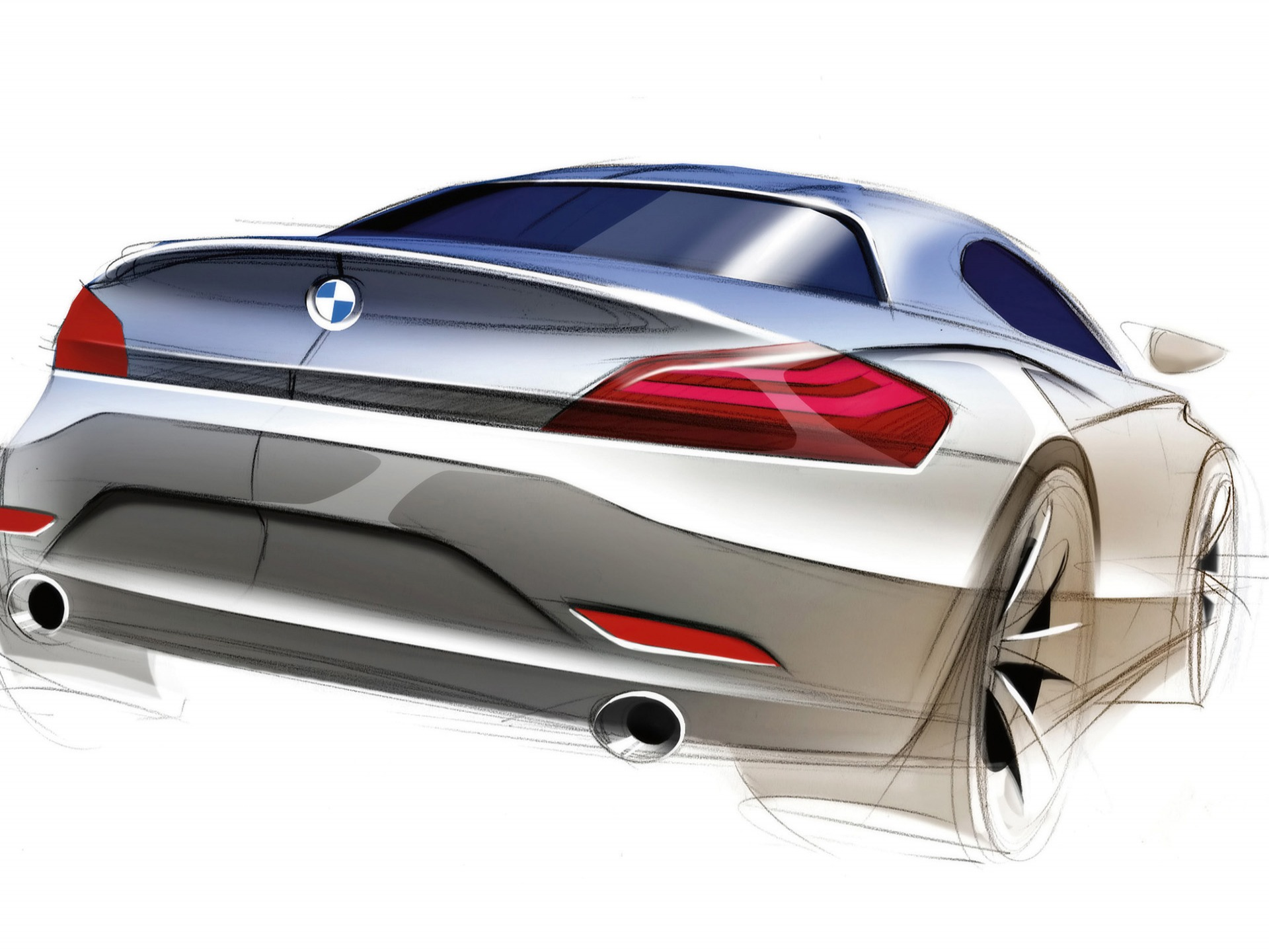 Bmw Z4 Roadster Sketch Wallpaper Bmw Cars Wallpapers In