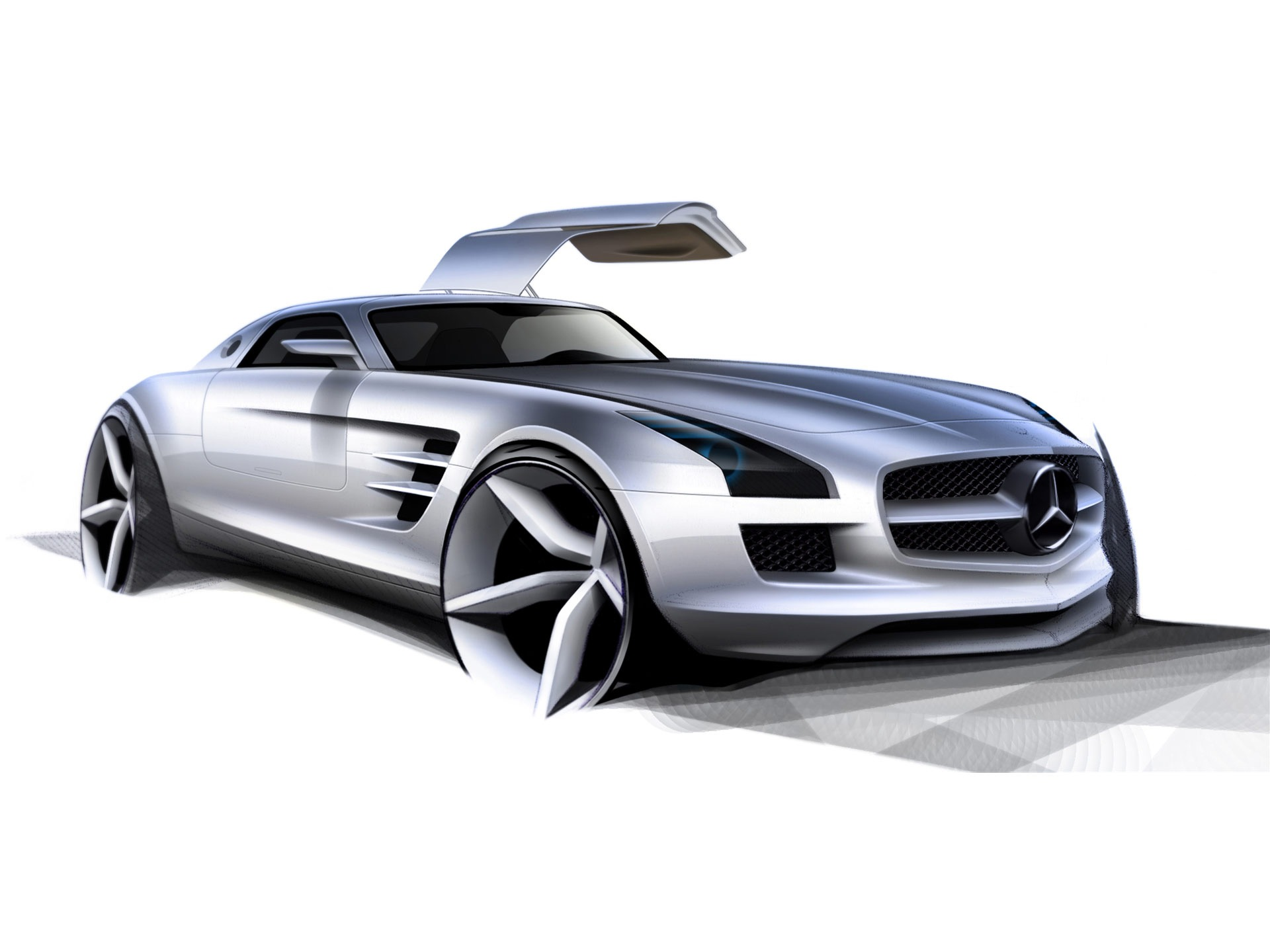 Mercedes benz sls amg wallpaper concept cars wallpapers in for Cars of mercedes benz