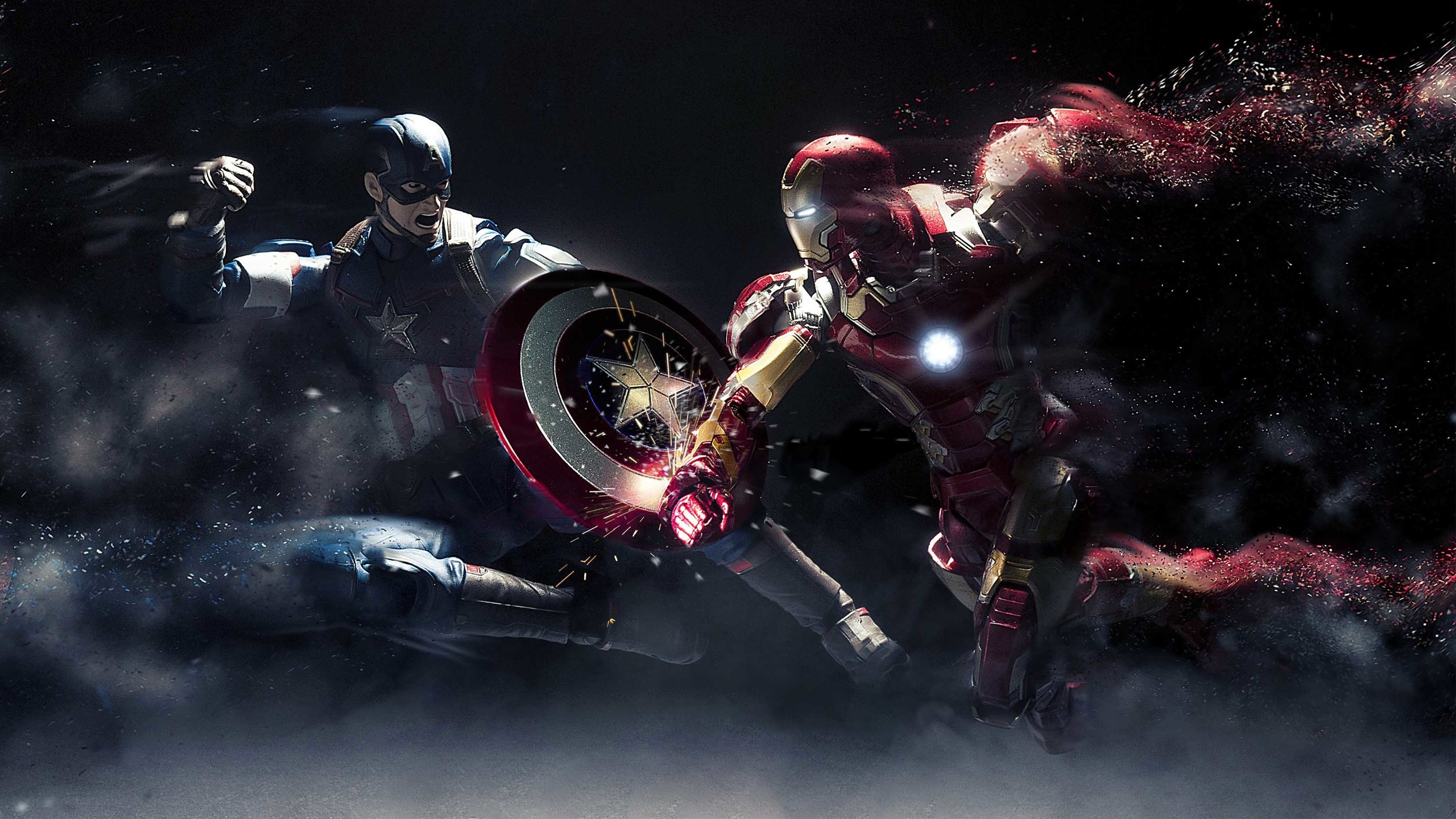 Iron Man Images Free Download: Captain America Vs Iron Man Wallpapers In Jpg Format For