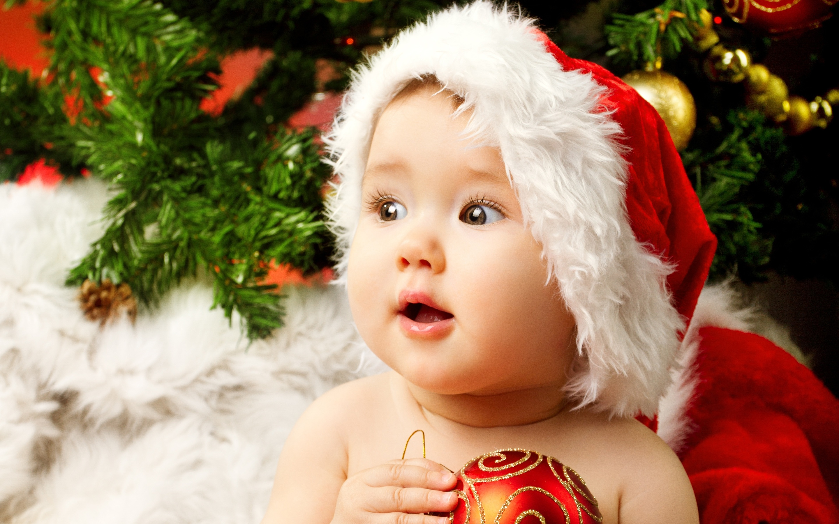 Cute adorable baby santa wallpapers in jpg format for free download - Sweet baby girl wallpaper pictures ...
